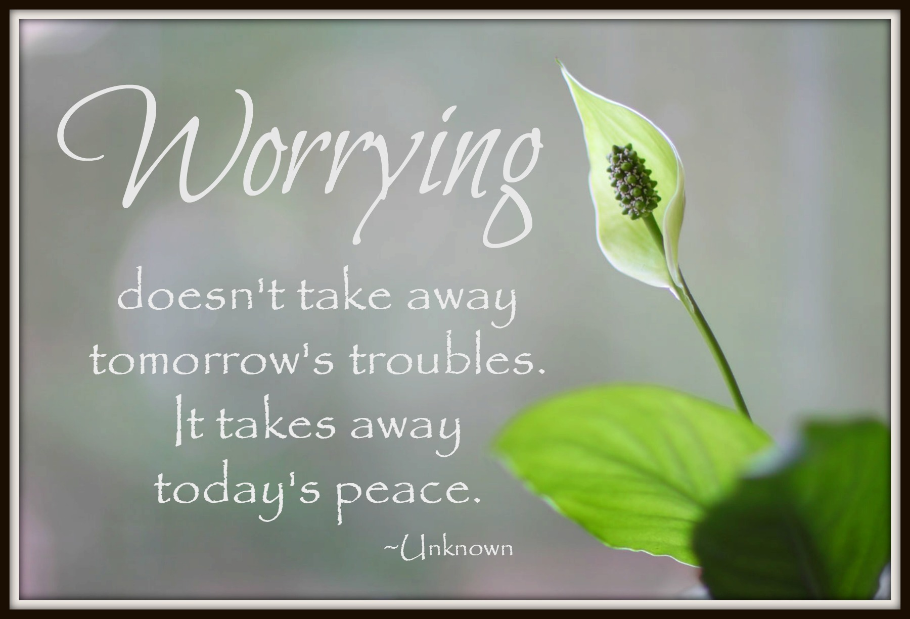 Worrying Doesn